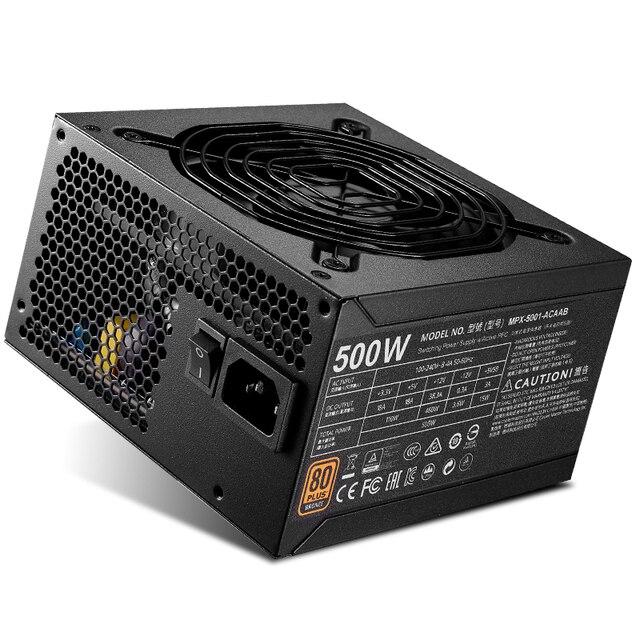 Кулер Мастер блок питания для ПК компьютер блок питания Номинальная 500 Вт 500 Вт 12 см вентилятор 12 В ATX PC блок питания BRONZ 80 PLUS для игрового офиса