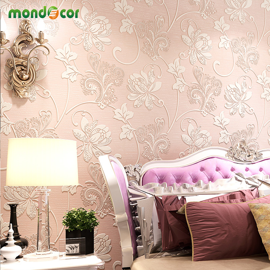 Mondecor Luxury European Modern Wallpaper Wholesale Non-woven Mural Wallpapers Roll Living Room Bedroom Home Decor Wall Paper retail 2015 winter new cute baby girl clothes black swan romper tutu dress kids cartoon clothes sets newborn outfit suits 4pcs