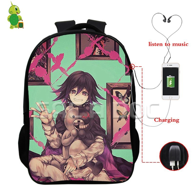 Anime Danganronpa Monokuma Mochila Escolar para Adolescentes