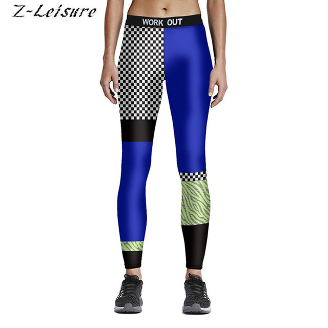 8fc9f7a5f1baa Women New Style Print Yoga Pants Elastic Compression Tights Fitness Workout  Gym Running Leggings Sexy Sports Clothing YG046