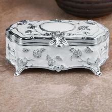 Шкатулка для драгоценностей инновационный Европейский Винтаж принцессы маленький серебряный позолоченный кулон глазурованные украшения для хранения коробка с ватными палочками зубочистка# 4O