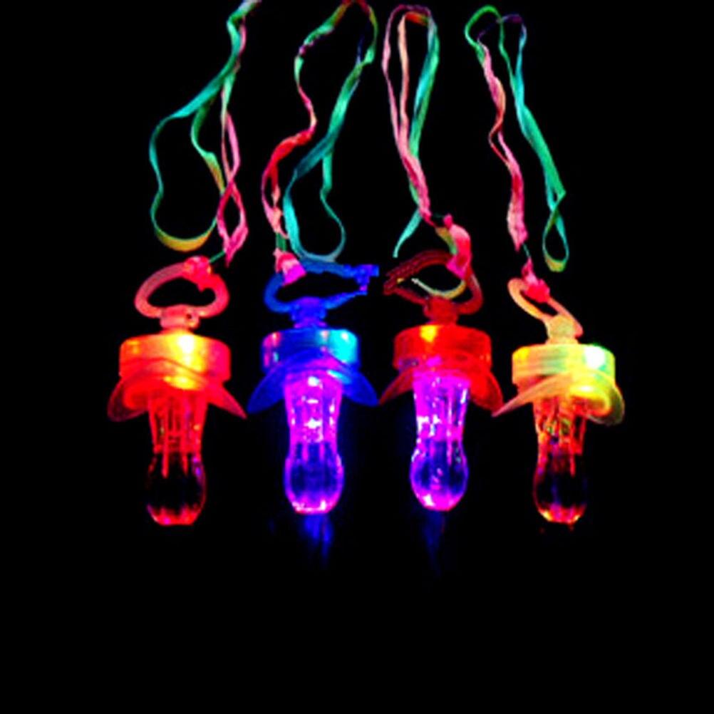 Aufstrebend Neue Kommen Led Blinkt Baby Schnuller Kleinkind Pfeife Blitz Leuchten Sticks Partei Liefert Spielzeug Schnuller Spaß Requisiten 100% Hochwertige Materialien