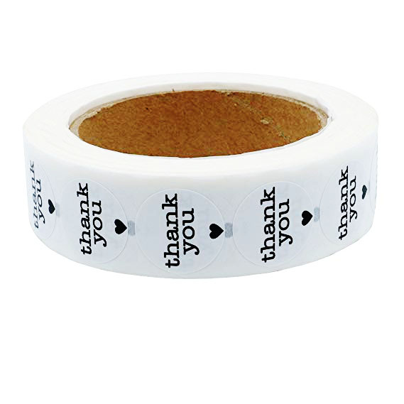 Купить с кэшбэком 500 Labels/roll thank you Stickers seal labels stickers scrapbooking for Package and wedding decoration stationery sticker