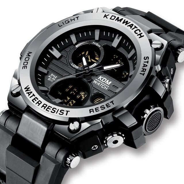 Relogio Masculino KDM Fashion Men Sport Watch 2019 Male LED Digital Quartz Wrist Watches Mens Top Brand Luxury Digital Watches