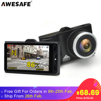 AWESAFE Ambarella A7LA50 Car DVRs GPS Camera 2 In 1 LDWS Speedcam Full HD 1296P Video