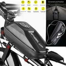 Bicycle Front Frame Waterproof Bag Cycling Bike Tube Pouch Holder Saddle Pannier ring front saddle bag