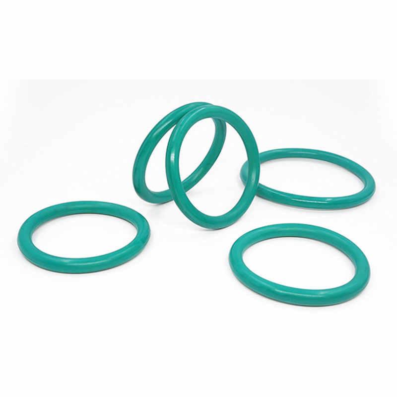 Pierścienie gumowe zielony pierścień uszczelniający okrągły FKM 5mm grubość OD52/55/58/60/62/65/68/70/75/80mm gumowe o-ringi uszczelka oleju paliwa podkładka