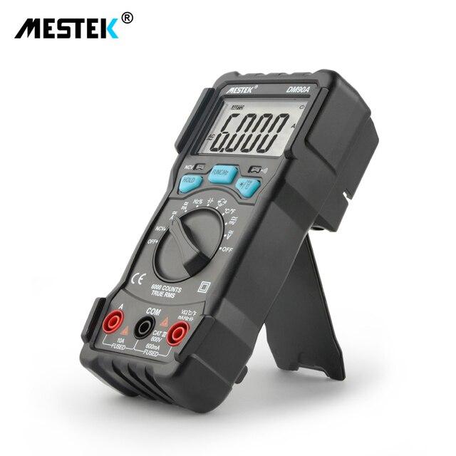 Mestek multímetro ac dc, multímetro rms verdadeiro multimetro dm90a faixa automática digital de frequência atual multímetros