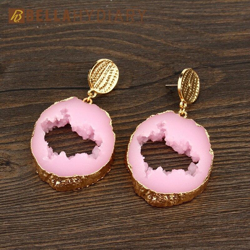 Druzy earrings resin earrings jewelry Ohrringe bijoux earings earring earing pendientes brinco big earrings vintage jewelry wedding earrings geometric earrings long earrings gifts for women (5)