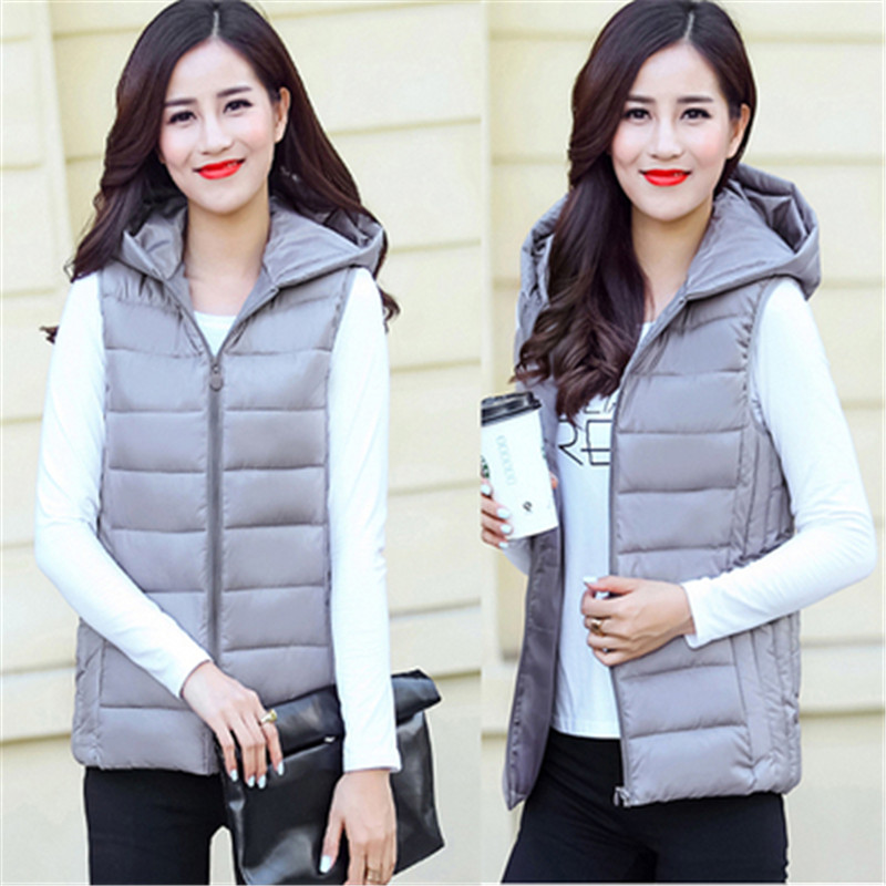 US $12.29 20% OFF|Woman Spring Plus Size Hooded Thick Down Jackets Female Autumn Oversized Warm Down Parkas Lady Winter Down Vests Woman Overcoat in