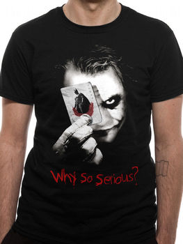 Batman El Caballero Oscuro el Joker ¿por qué es tan grave? Camiseta Top para hombre Unisexmen 2019, ropa de marca, camisetas casuales para hombre, superventas