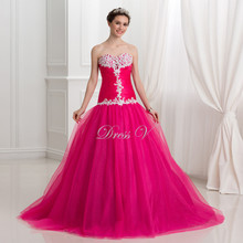 Princess Rosy Pink Puffy Tulle Quinceanera Dresses Lace Applique 2016 Ball Gown Long Sweet 16 Dress Plus Size Vestidos Debutante