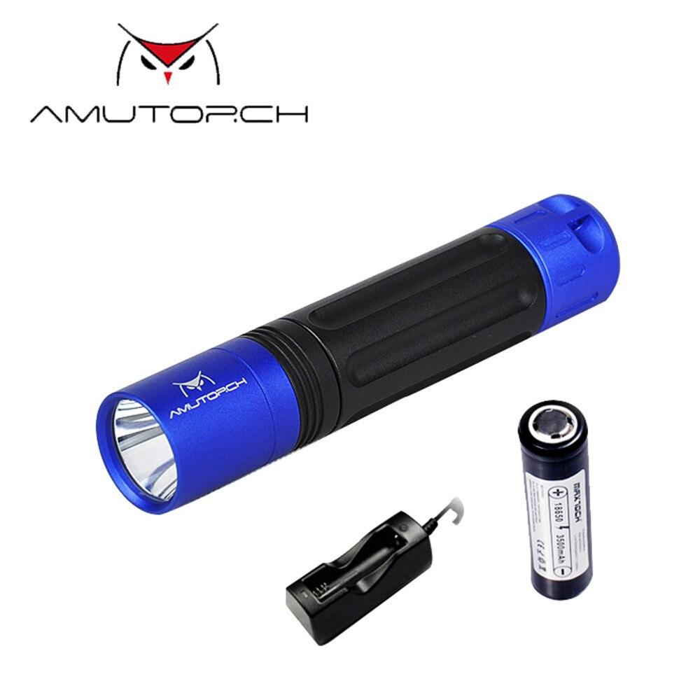 AX1 XPL-HD 1100LM 5Modes Memory Function Deep Reflector Brightness Long-rang Tactical LED Flashlight