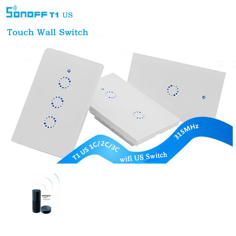 Sonoff T1 US WiFi RF Smart Wall Touch Light Switch