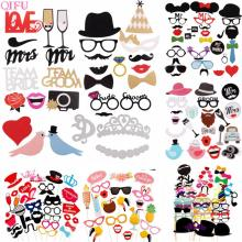 Photo Booth Props Wedding Photobooth Decoration Party Accessories MR MRS Event Supplies