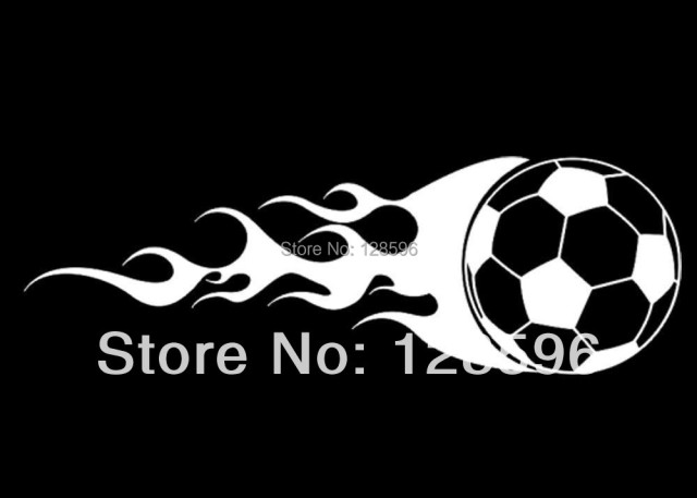 Aliexpresscom  Buy Custom Vinyl Flaming Soccer Ball Car Window - Soccer custom vinyl decals for car windows
