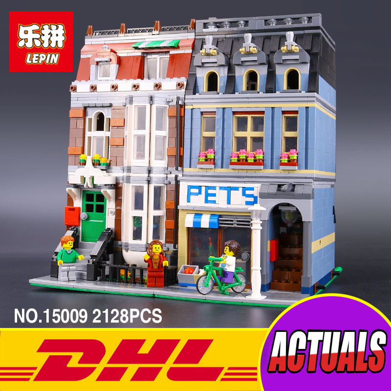 LEPIN 15009 Creator City Street Creator Pet Shop Model Building Kits Blocks action bricks baby toy 10218 lepin 15009 city street pet shop model building kid blocks bricks assembling toys compatible 10218 educational toy funny gift