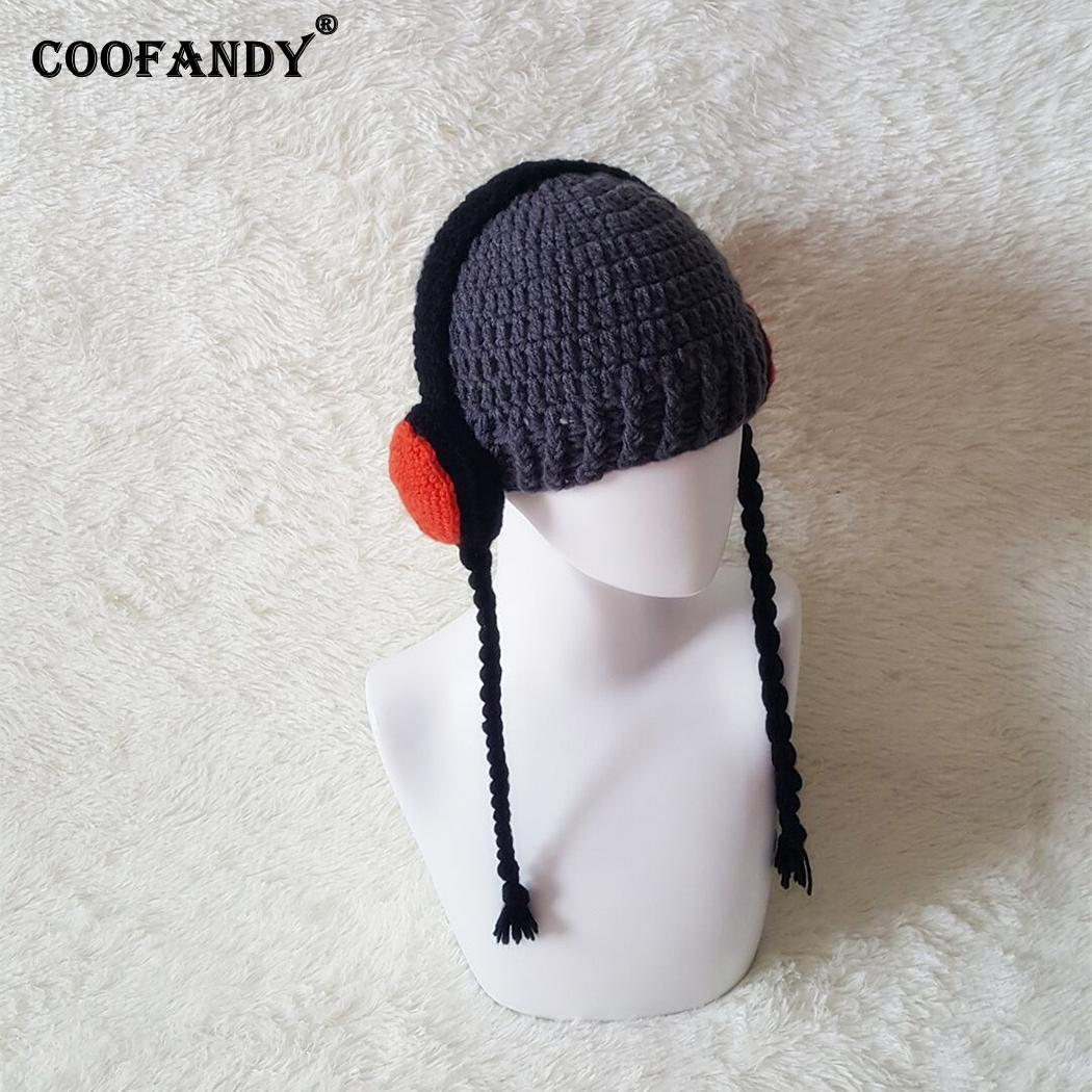2d35040b Unisex Kids Fashion Winter Warm Cute Knitted 2 8Years Earflap Casual Gray  Patch Cap-in Men's Skullies & Beanies from Apparel Accessories
