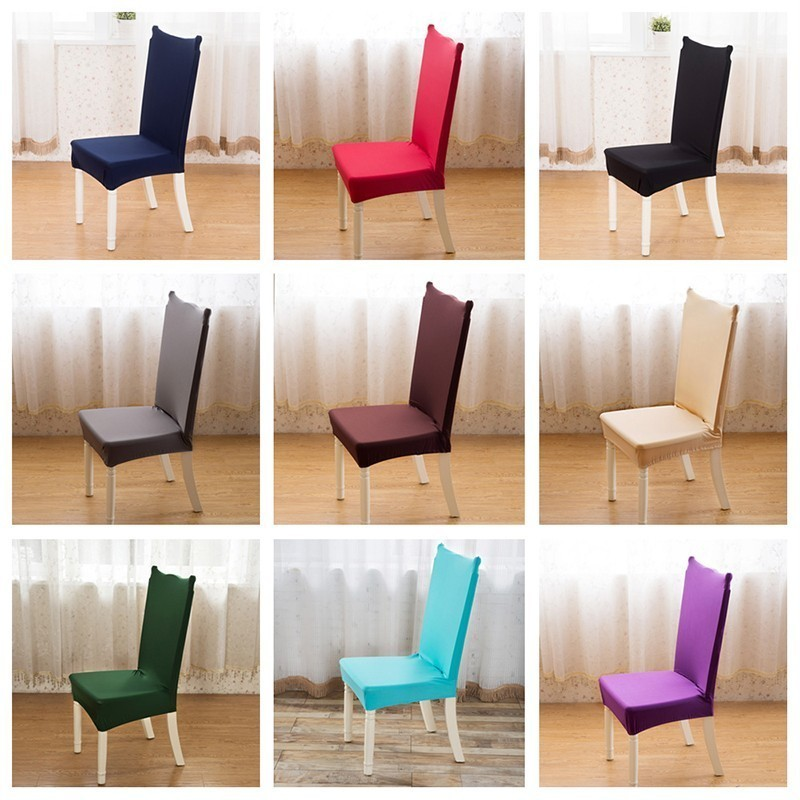 4/6PCS High Elastic Stretch Chair Cover Removable Wrinkle Resistant Furniture Protector Cover Dining Room Chair Cover