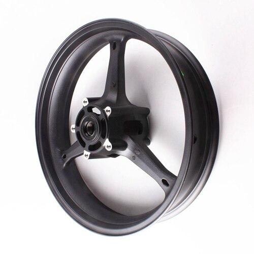 Motorcycle Front Wheel Rim For Suzuki GSXR 600 GSXR 750 K6 2006-2007 GXSR1000 K5 K7 2005 2006 2007 2008 Aluminum Alloy Black (1)