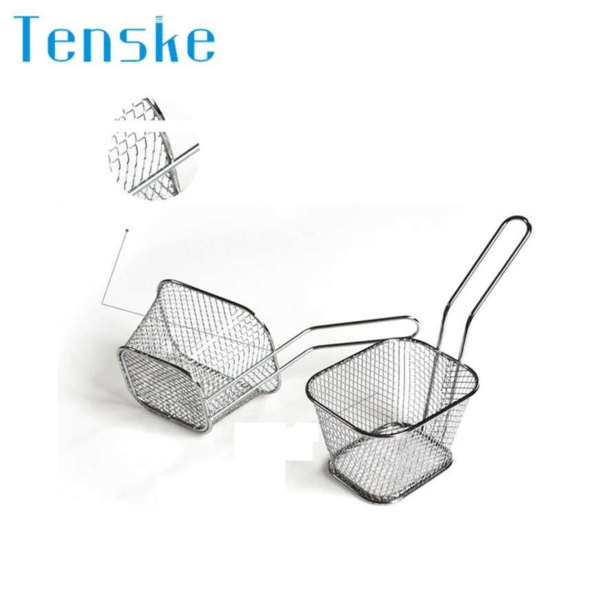 Top Grand Stainless Steel Frying French Net Chef Basket Basket Mesh Basket Strainer Net Kitchen Cooking Tool Dropship