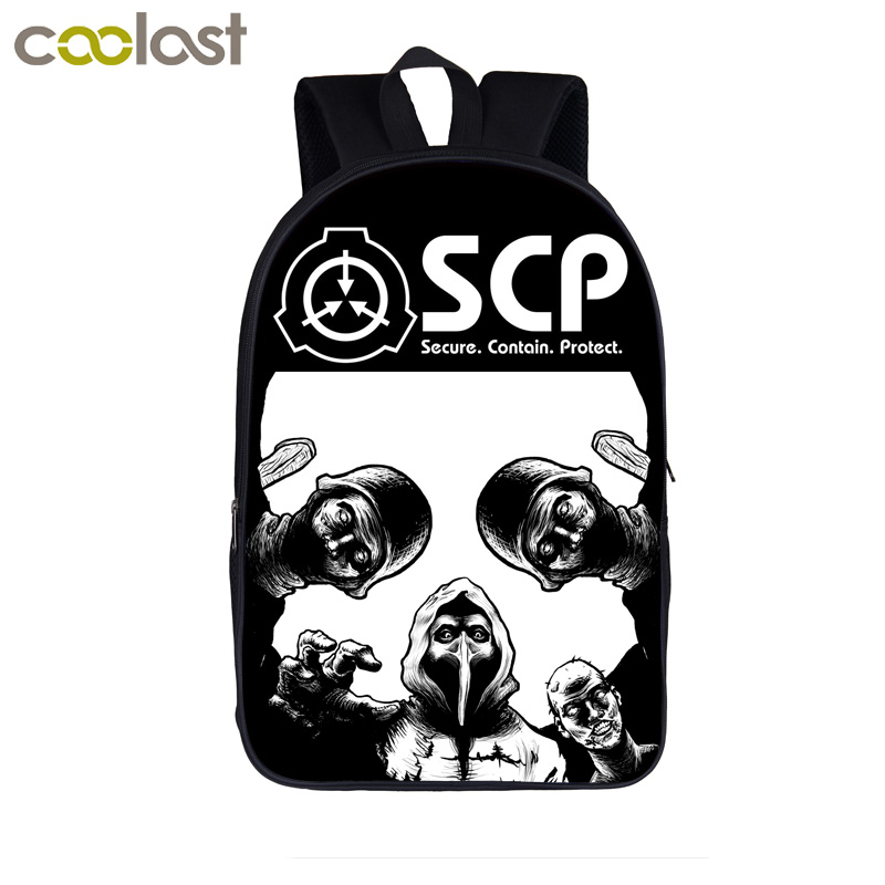 SCP Special Containment Procedures Foundation Backpack For Teenager Scp-049 Women Men Casual Bag Children School Bags Backpack