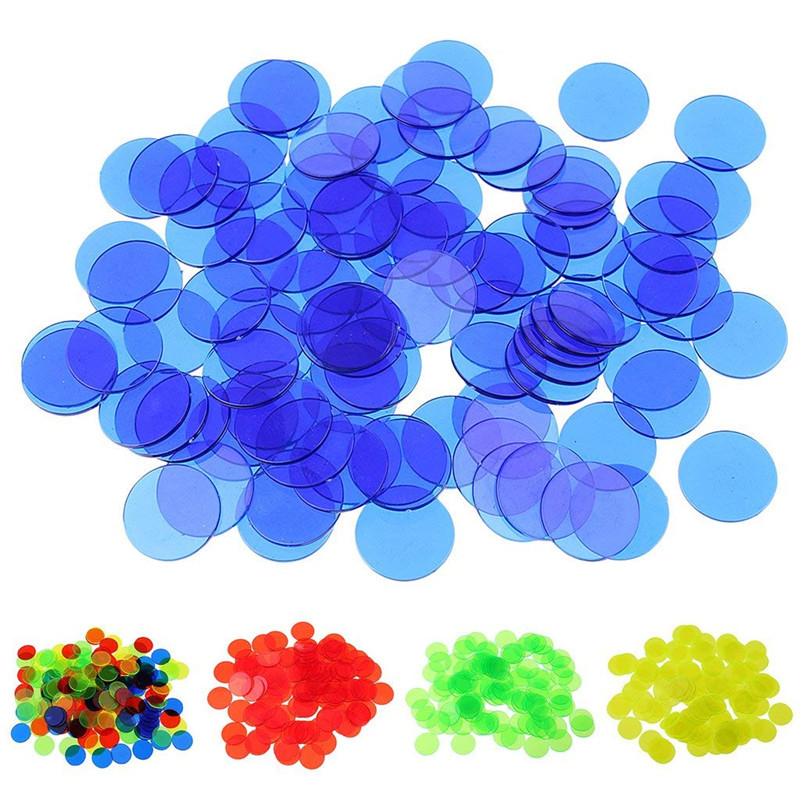 100pcs/bag Kids Math Toys Montessori Materials Acrylic Educational Count Match Early Learning Transparent Plastic Coin Baby Toys(China)