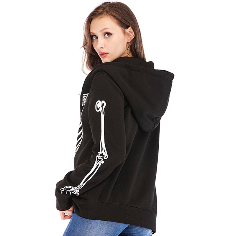 8a5e4e47 ... Twenty One Pilots Hoodies Zipper Jackets Cosplay Tyler Joseph Costume  Harajuku Streetwear Skeleton Hooded Sweatshirt Gilrs