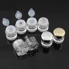 Bocaux en poudre de 100 pièces 3G, pots vides, contenant à paillettes pour ongles, capuchon de caisse demballage noir, forme de diamant, livraison gratuite