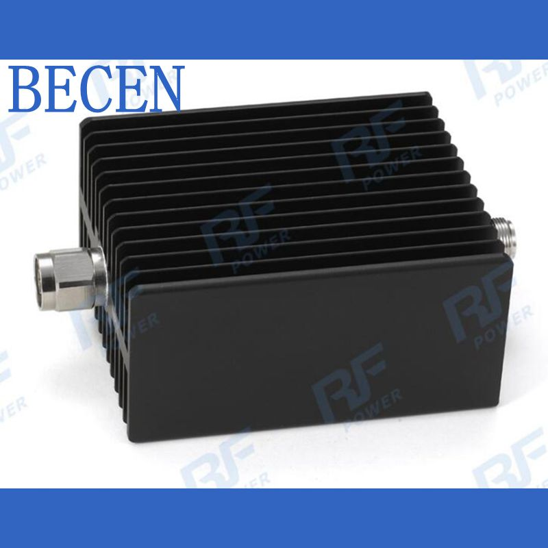 100W N-MF Coaxial RF Attenuator DC to 3GHz ,50ohm,1/3/6/10/15/20/30dB factory direct selling n type 100w high power coaxial fixed attenuator and rf attenuator 1 60db
