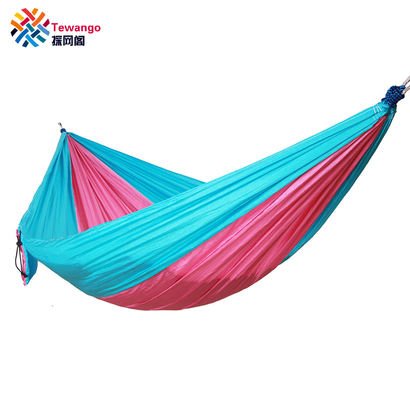 Tewango Portable 1-2 Person Outdoor Camping Hanging Hammock Swing Bed Nylon 260*140