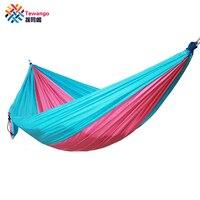 Tewango Portable 1 2 Person Outdoor Camping Hanging Hammock Swing Bed Nylon 260*140