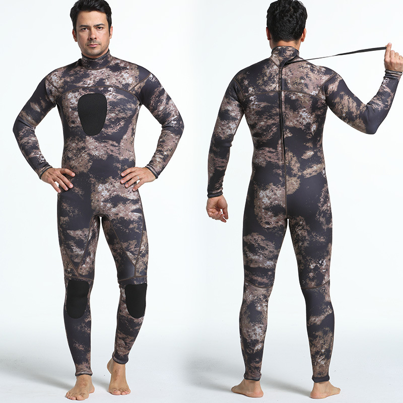 NIDALEE 3MM Full Body Warm Wetsuit Men Camouflage Spearfishing Surfing Wetsuits Neoprene Scuba Swim Jumpsuit Surf Equipment XXL sbart camo spearfishing wetsuit 3mm neoprene camouflage wetsuit professional diving suit men wet suits surfing wetsuits o1018