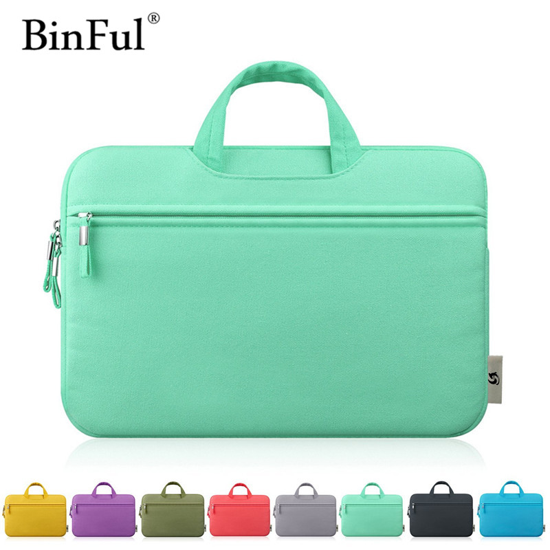 BinFul Canvas 11 12 13 14 15 15.6 inch Laptop Bag Notebook PC Sleeve Case Pouch for woman for hp macbook sony 11.6 13.3