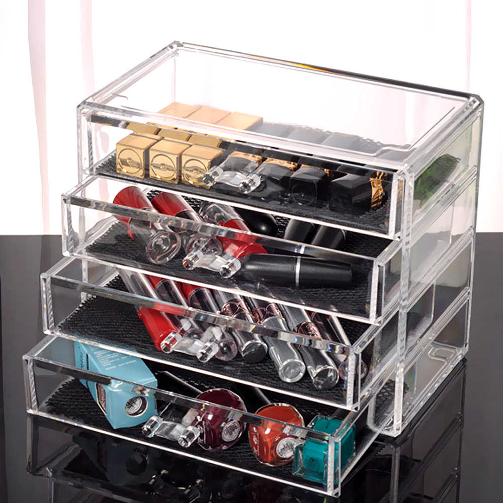 Hoomall Transparent Acrylic Storage Drawer Makeup Organizer Table Jewelry Home Sundries Cosmetic Storage Box Storage Holders