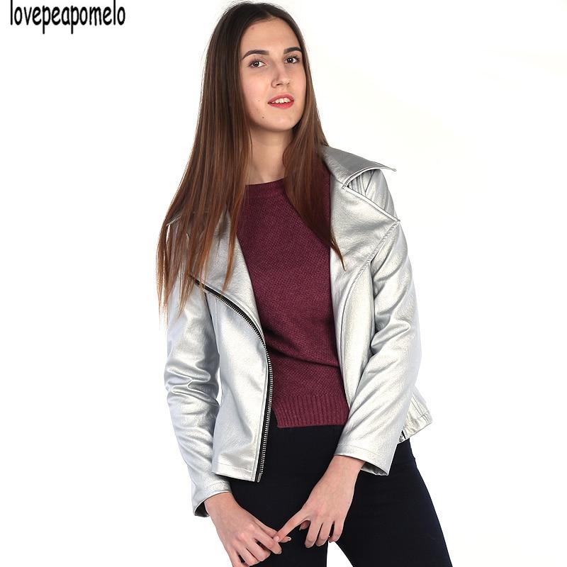 Pu Mujeres Punk Otoño Las Del Cremallera Silver Tops Cuero Oblicua Coreano 2018 Casual Cosecha De Vendaje Solapa Chaqueta Estilo Plata Delgado q66CwXrz