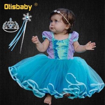 Платье-пачка для маленьких девочек, фиолетовое платье-пачка для новорожденных, платье для дня рождения, карнавальный костюм