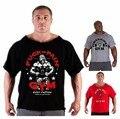 2016 лето марка повседневная футболка человек, одетый гориллой в мире бодибилдинг и фитнес мышцы рубашка плюс размер одежды