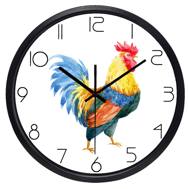 Good Brand New Rooster Cock Animal Wall Clock For Living Room, No Ticking Silent  Clock For