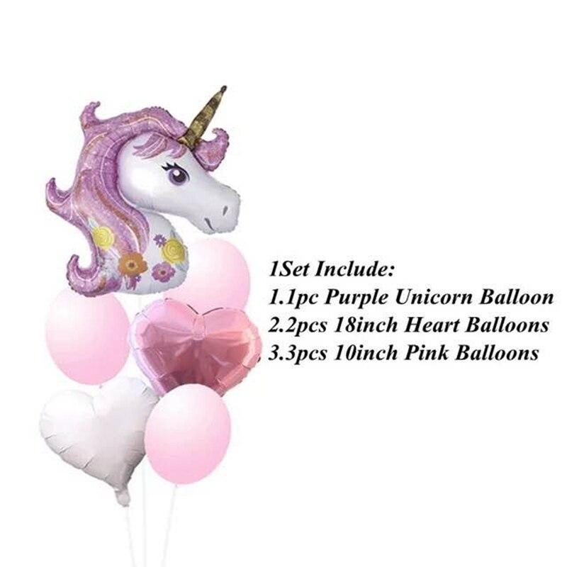 Купить 5 шт воздушные шары в виде единорога 18 дюймов