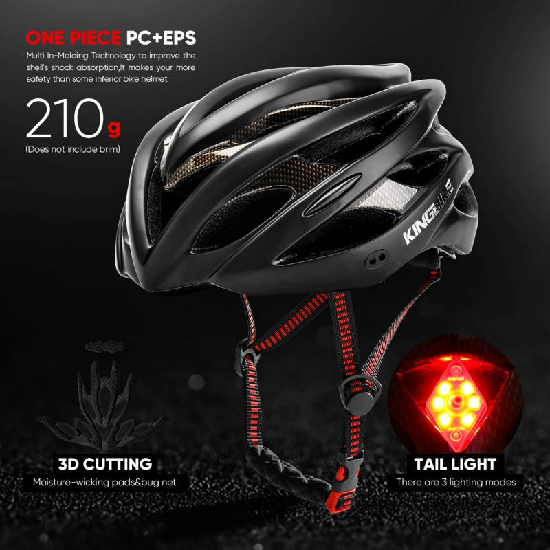 Men Women Bike Helmet with Warning Light Ultralight Intergrally molded  Cycling Helmet Mountain Bicycle MTB Helmets L XL Size-in Bicycle Helmet  from