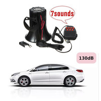 Loud 12V 100W 7 Sounds Tone Horn Siren Speaker Alarm For Car Van Truck Boat 130d