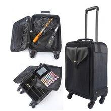 956ddd548 BeaSumore multifunción especial caso cosmético equipaje rodante Spinner 20  pulgadas mujeres cabaña maleta ruedas de carro
