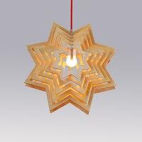 Несколько Snow Flake звезды Дерево Подвесные светильники Американский Лофт Античная Ретро Праздник лампы Дизайн для ресторана Обеденная
