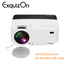 Exquizon T5 HD 1080P projector 1920*1080 Resolution Multi-screen  Interaction For Phone Home Cinema