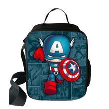 Мультяшный Железный человек Тор Халк сумка для обеда для мальчиков и девочек для пикника, кемпинга, еды, сумки для студенческого обеда, термоизолированные сумки-тоут