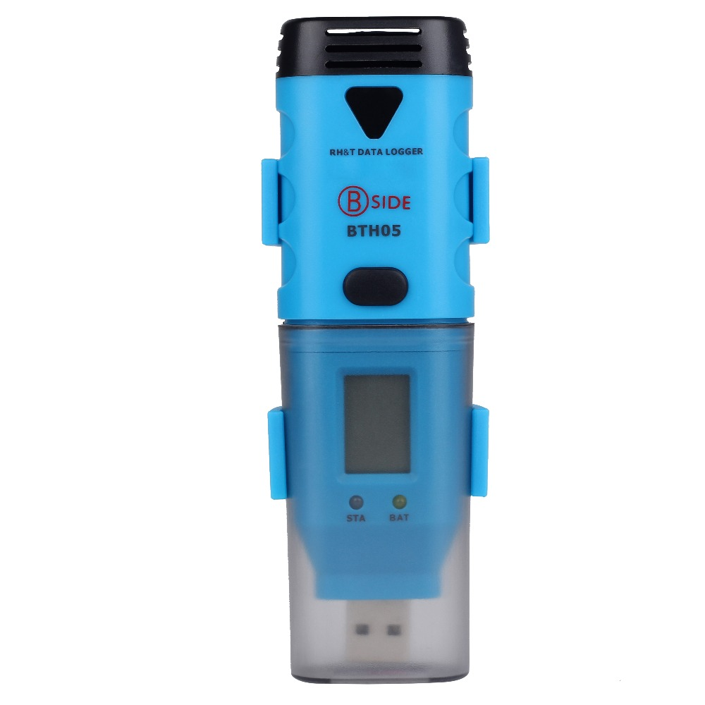 Freeshiping bth05 Three-channel temperature and humidity data recorder Continuous records for 3 years USB one-piece with display handheld professional humidity and temperature sd data logger with built in internal