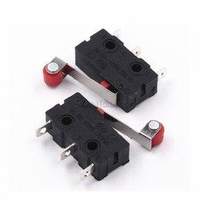 Image 5 - 10 sztuk gorąca sprzedaż mały mikroprzełącznik 3Pin z wyłącznikiem krańcowym rolki