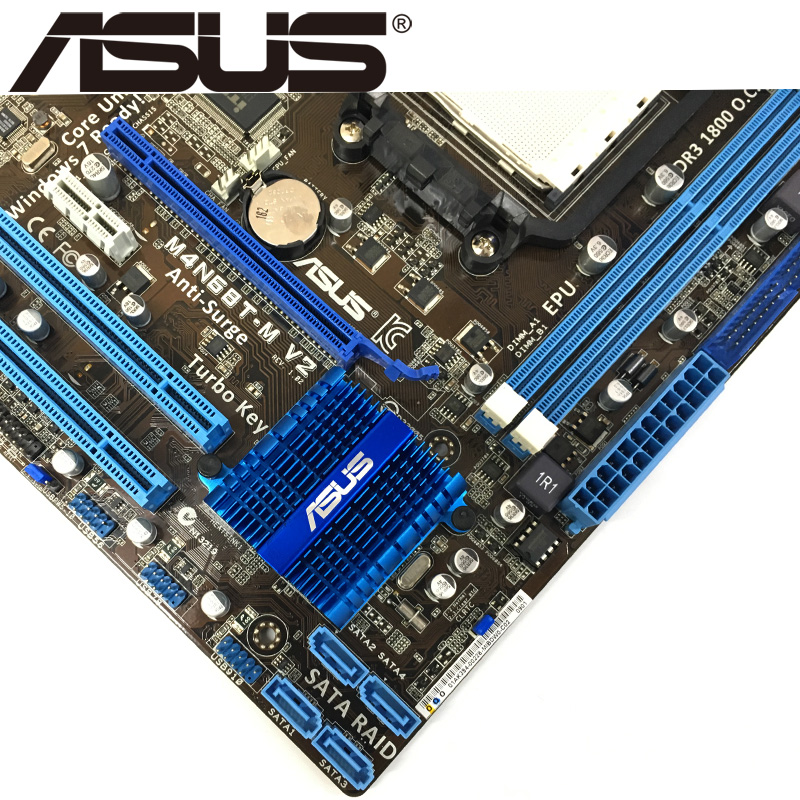 Asus M4N68T-M V2 Desktop Motherboard 630A Socket AM3 For Phenom II Athlon  II Sempron 100 DDR3 16G u ATX Original Used Mainboard