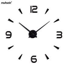 Clock watch wall clocks horloge 3d wall clock modern design Home Decoration Living Room Quartz Needle free shipping